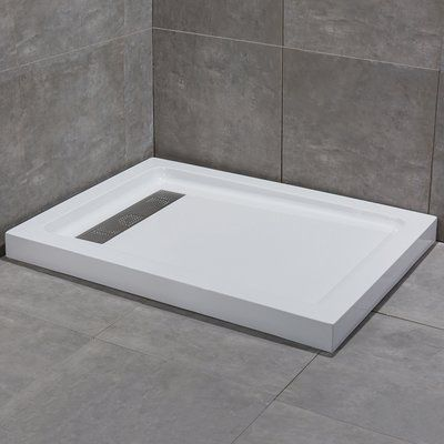 Woodbridge Shower Base Size 3 5 H X 60 W X 34 D Shower Base