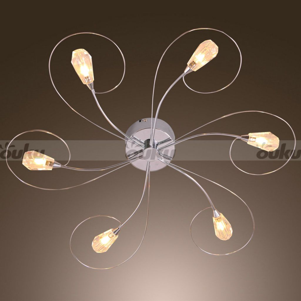 cut off moderncomtemporary 6 light artistic ceiling light chandeliers flush moun fit for living room bedroom dining room