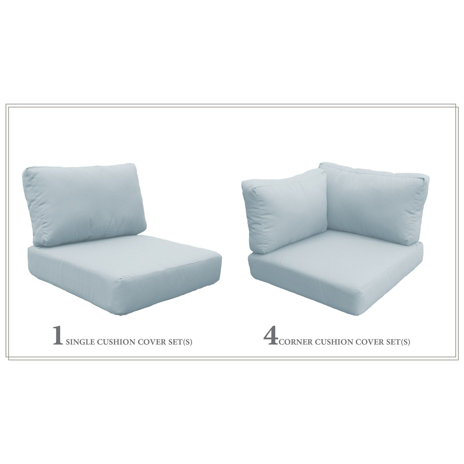Petite High Back Cushion Set For Barbados 05a Assembled
