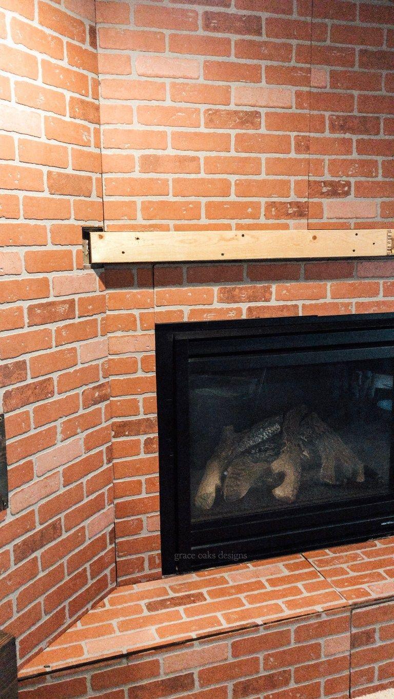 diy faux german schmear & fireplace update in 2020 | fireplace update, faux brick panels, brick