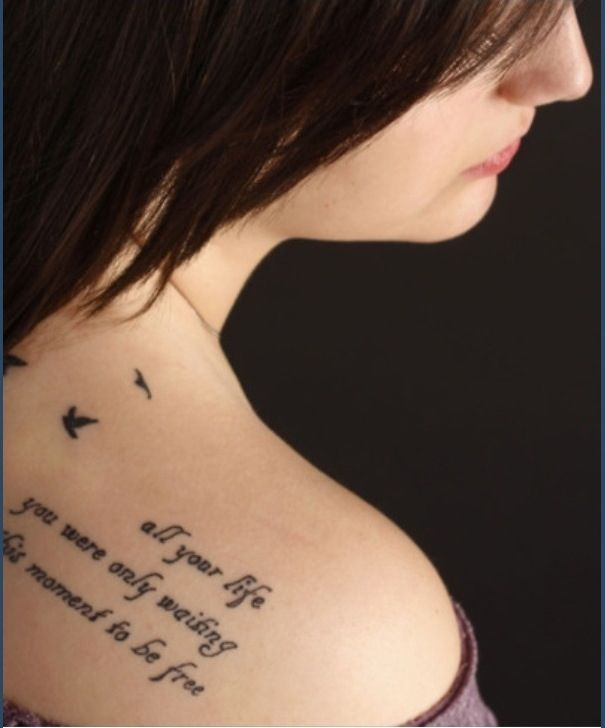 Beatles tattoo- #quote : all your life you were only waiting for this moment to be free
