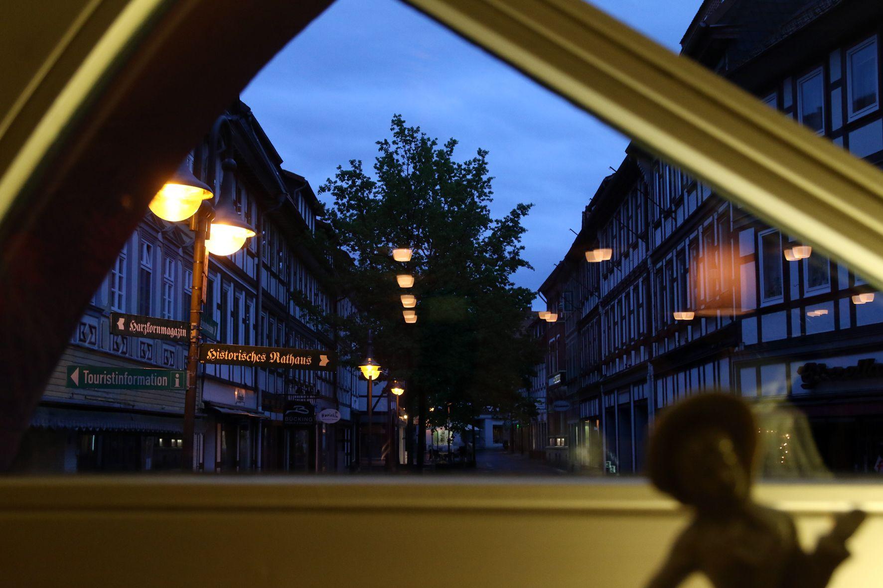 Blick aus dem Ratskeller in Osterode am Harz
