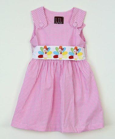 Another great find on #zulily! Pink Gingham Turkey Dress - Infant, Toddler & Girls #zulilyfinds
