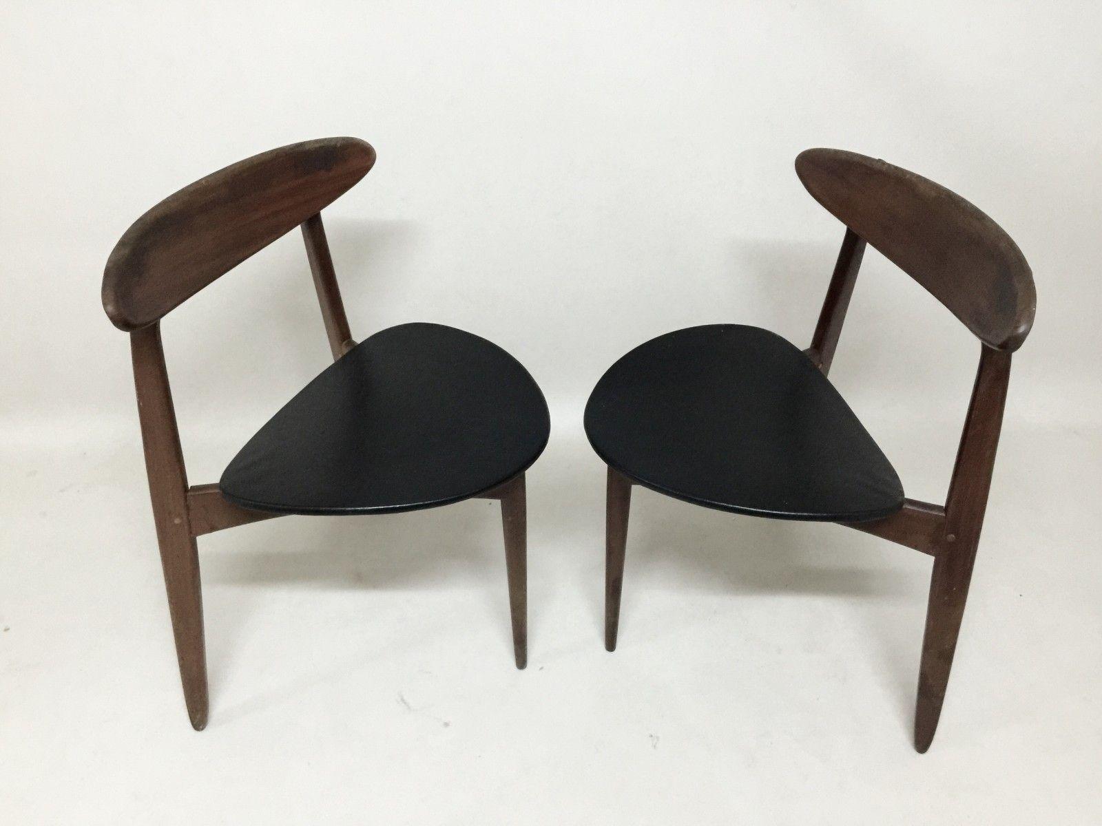 Vintage Danish Three Legged Chairs Set Of 2 5 Vintage Office