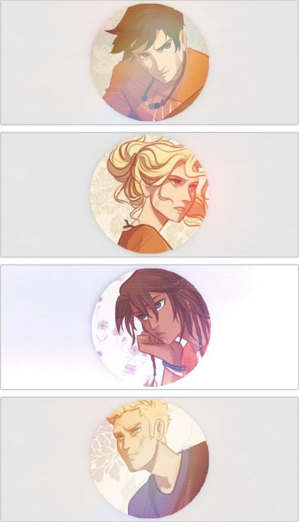Percy, Annabeth, Piper, and Jason.