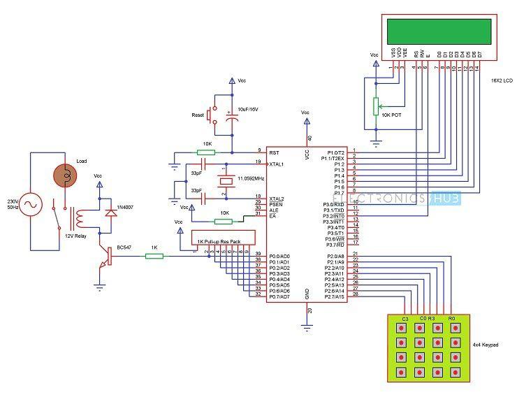 Password Based Circuit Breaker Project Circuit Working Circuit Arduino Circuit Circuit Diagram