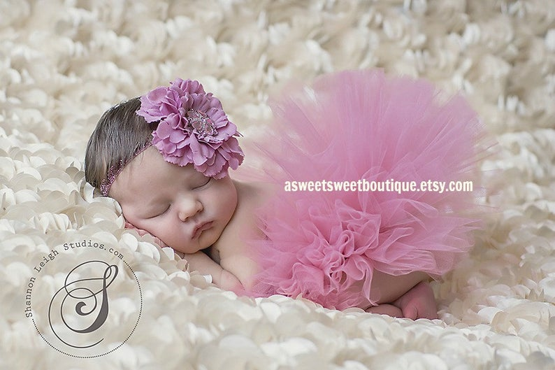 Pink Tutu Photography Prop Newborn Tutu Tutu Only SOFT PINK TUTU Light Pink Tutu Newborn Photo Prop Infant Tutu Smash Cake Outfit