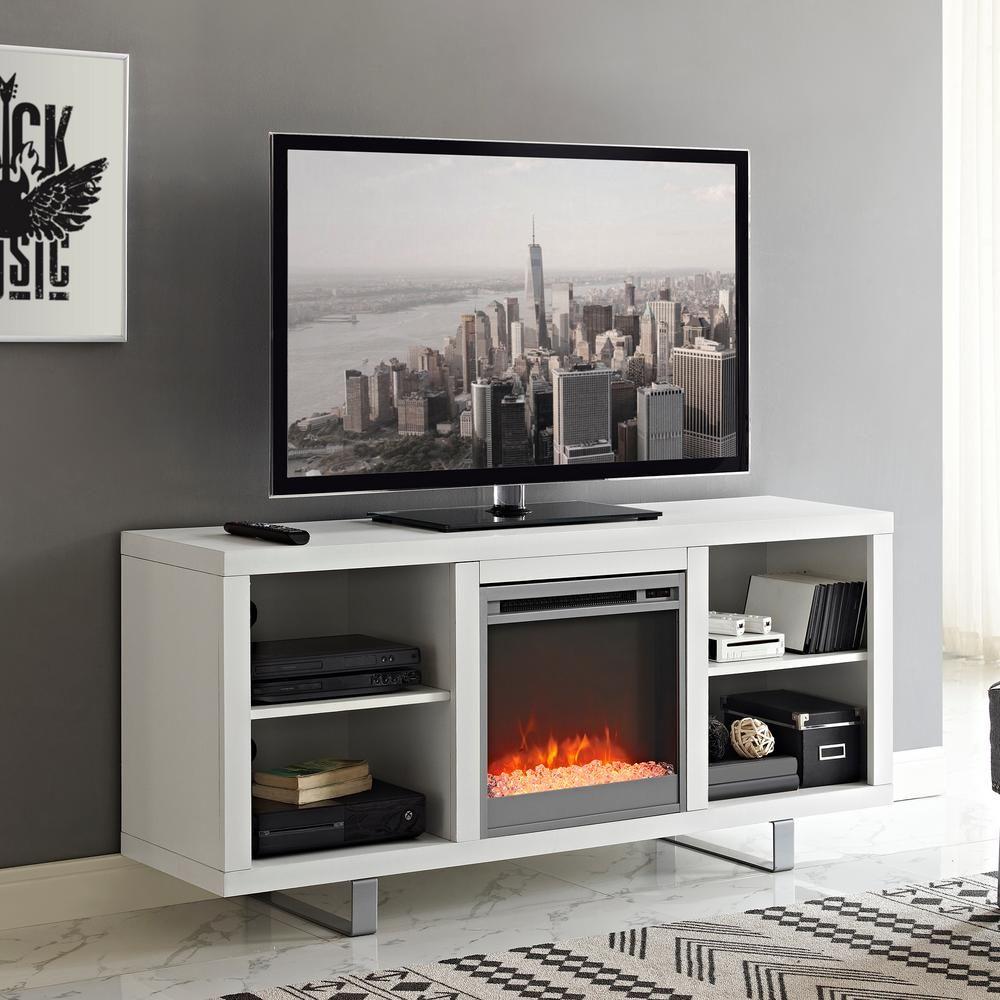 Walker Edison Furniture Company 58 Modern Electric Fireplace Tv