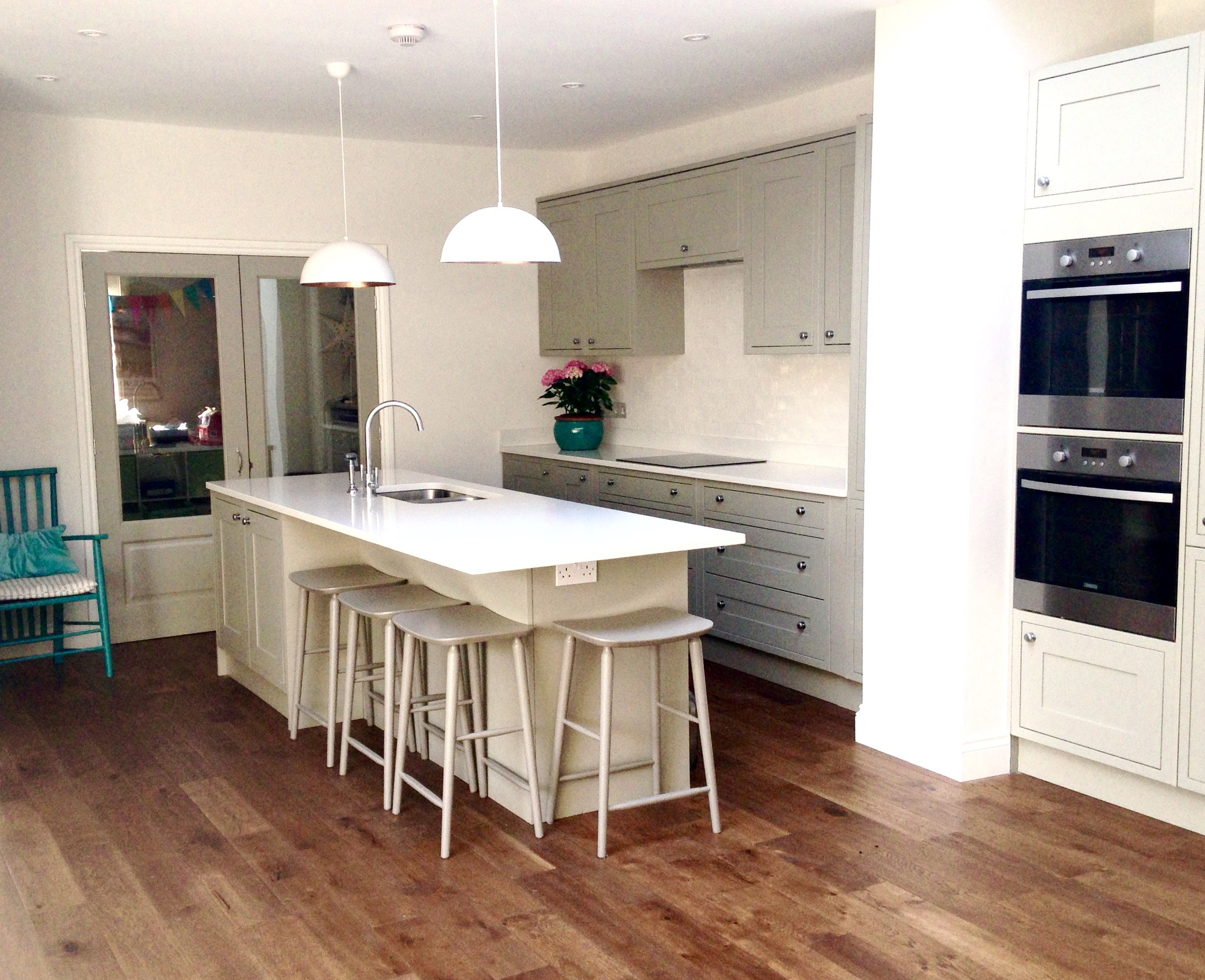 Kitchen units are from Wickes Heritage Grey. They are a