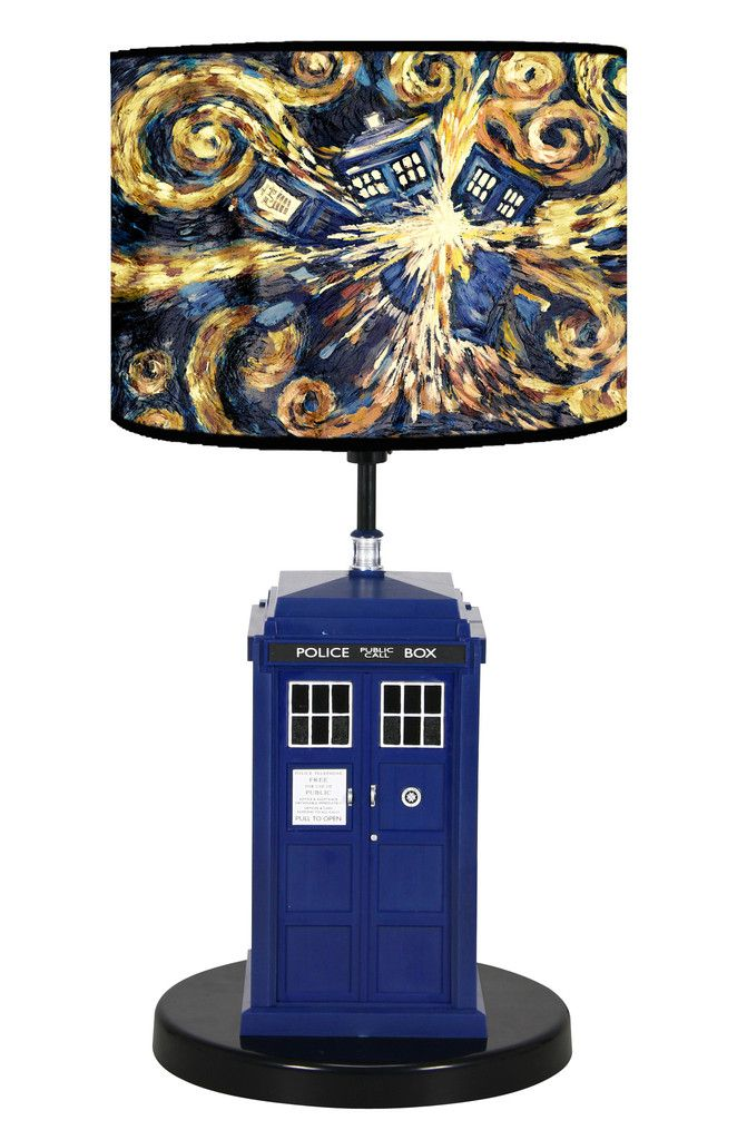 Great Doctor Who Flashing Tardis Pattern Table Lamp