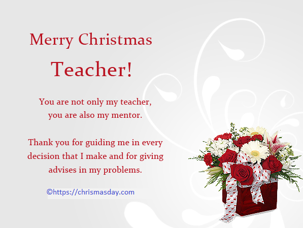 Christmas Card Message For Teachers From Parents Christmas Card Messages Christmas Wishes For Teacher Wishes For Teacher