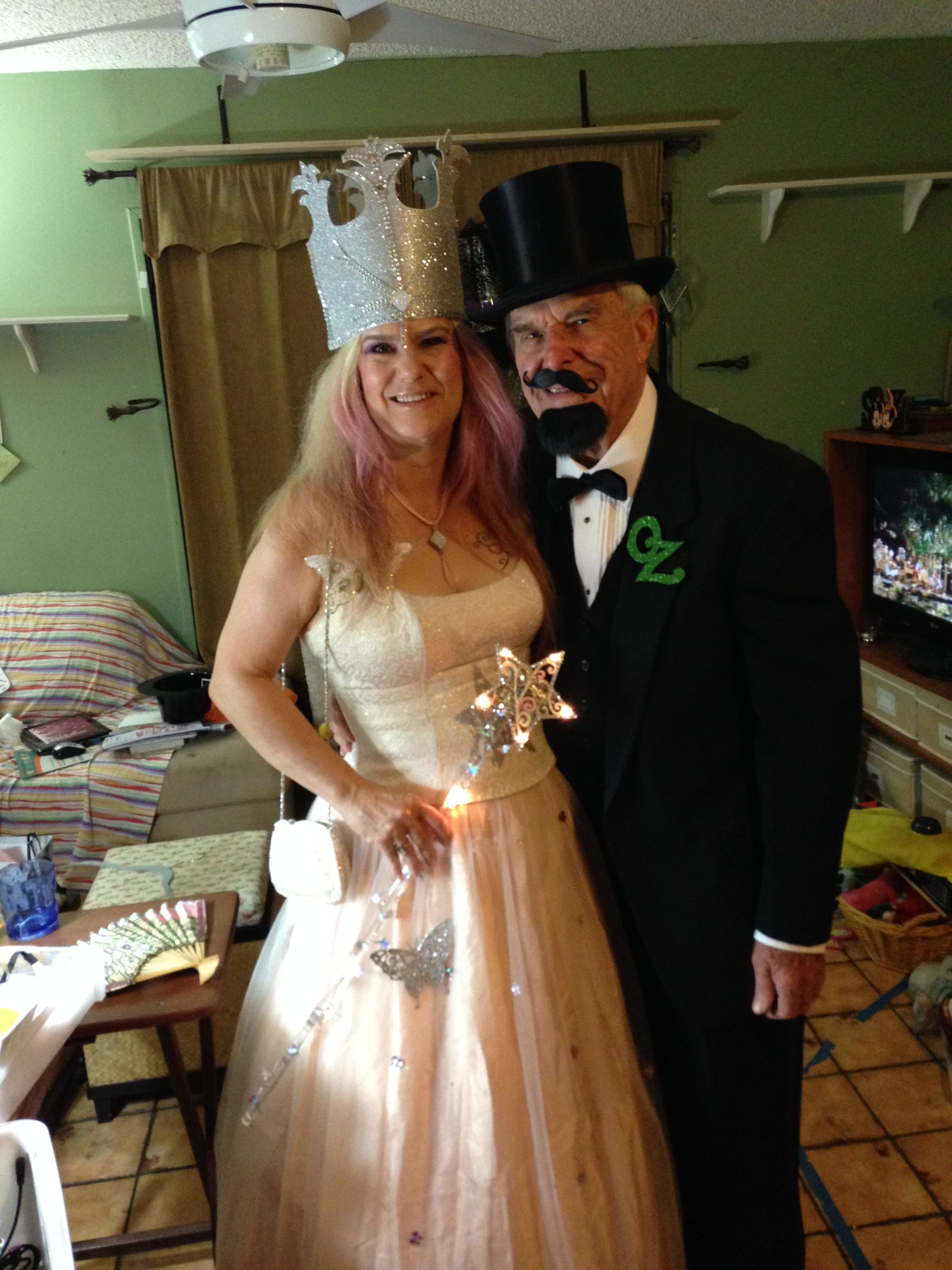 Glinda and The Wizard of Oz!!!  Altered prom dress, handmade crown and wand.