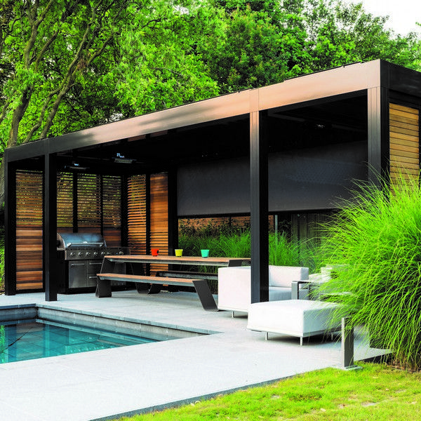 Patio Contemporain: Renson Camargue Shows Off The Motorised Blinds And