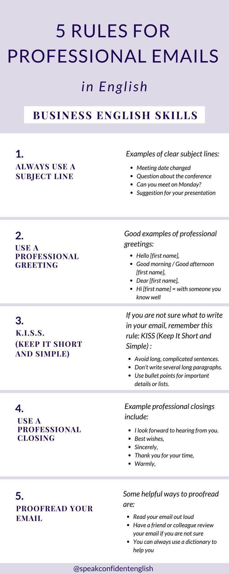5 rules to write professional emails parleranglais anglais