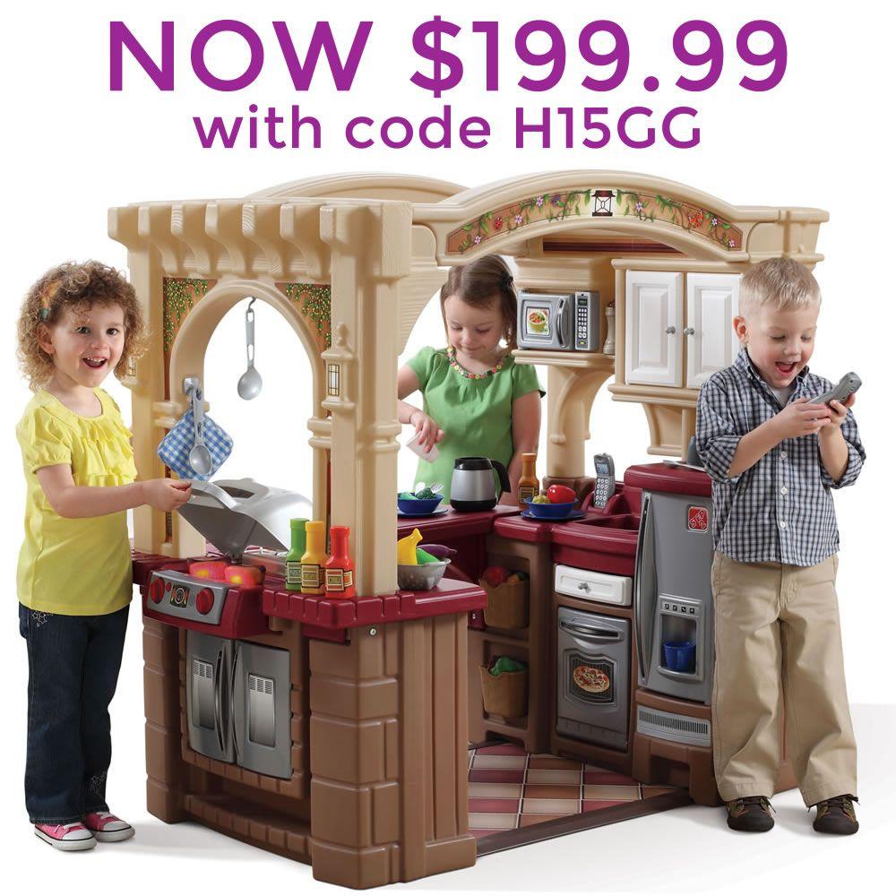 Grand Walk In Kitchen Grill Kids Play Kitchen In 2021 Kids Play Kitchen Play Kitchen Sets Play Kitchen