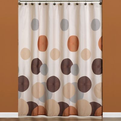 Buy Dot U0026 Rings Fabric Shower Curtain From Bed Bath U0026 Beyond