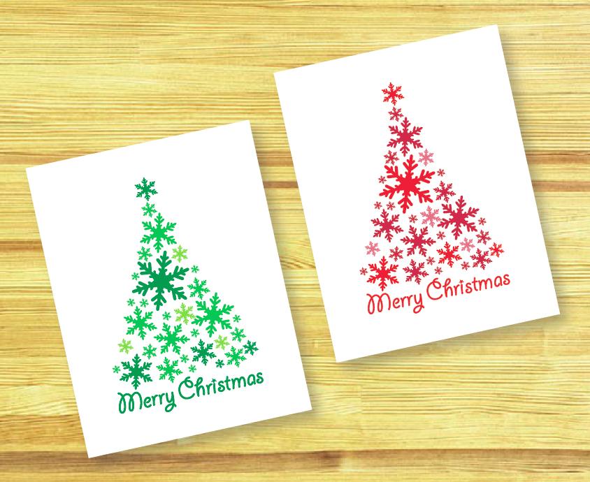 La Esptula Roja Diy Christmas Cards  Tarjetas De Navidad