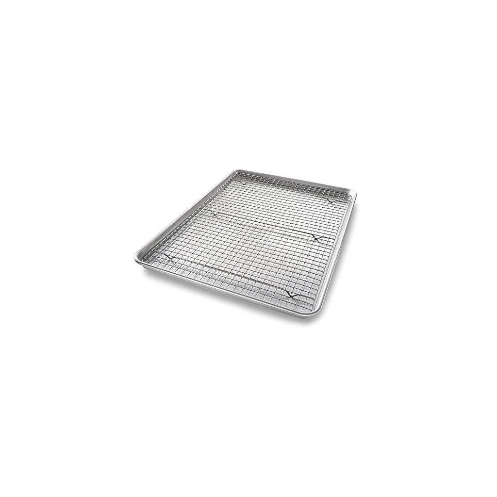 Usa Pan 1602amz Bakeware Half Sheet Nonstick Cooling Baking Rack