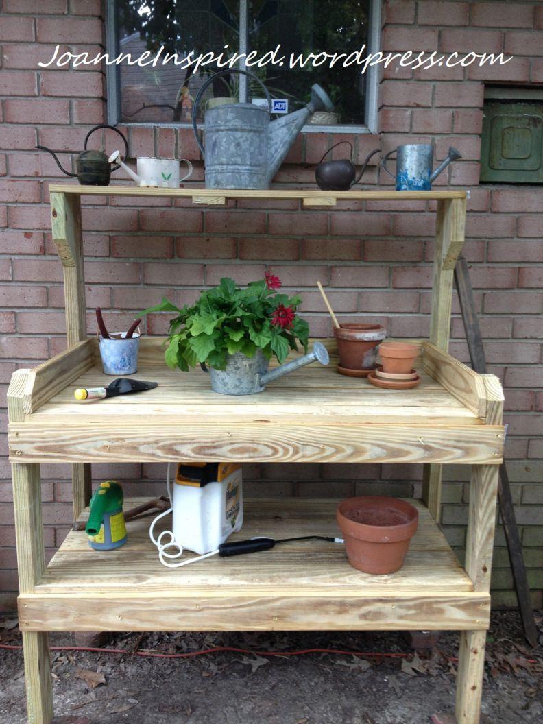 Happy Birthday Potting Bench pottingbench garden Potting