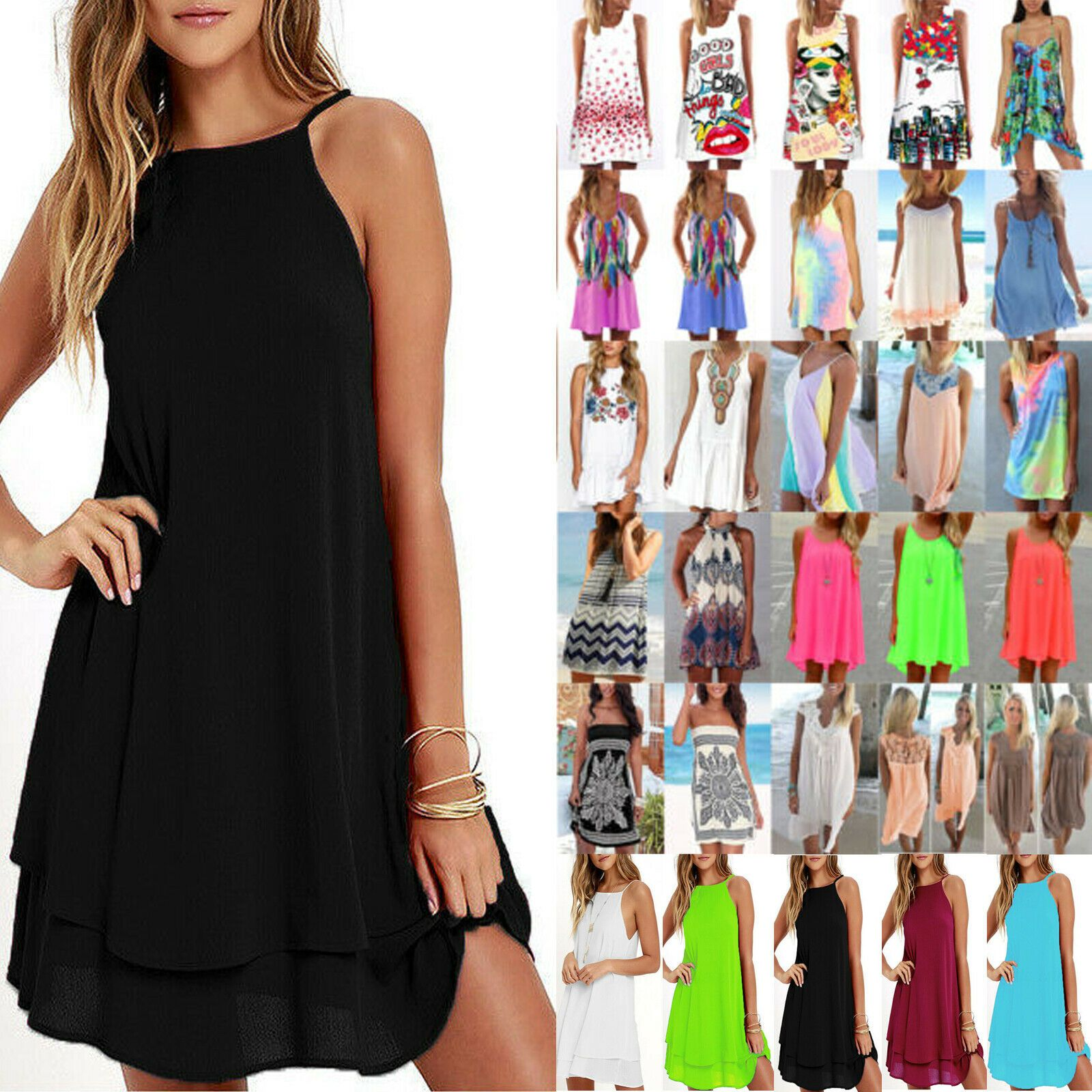 Womens Ladies Sleeveless Boobtube Neckline Bandeau Tunic Fit Bodycon Mini Dress