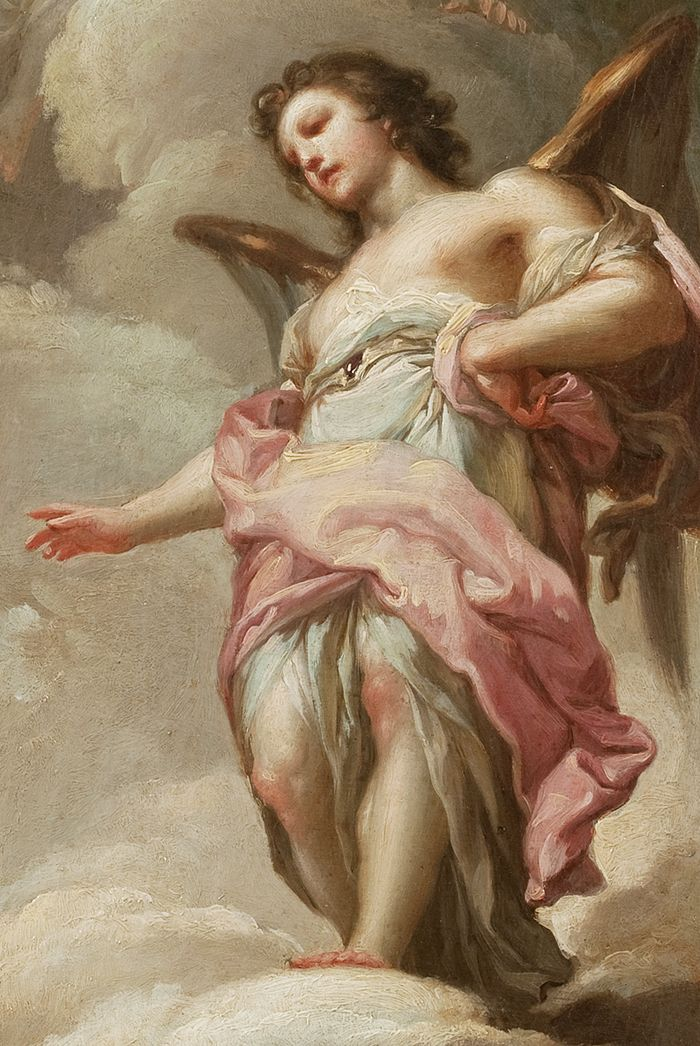 Francisco Bayeu Y Subias Detail From Abraham And The Three Angels 1771 Angel Painting Angel Art Renaissance Art