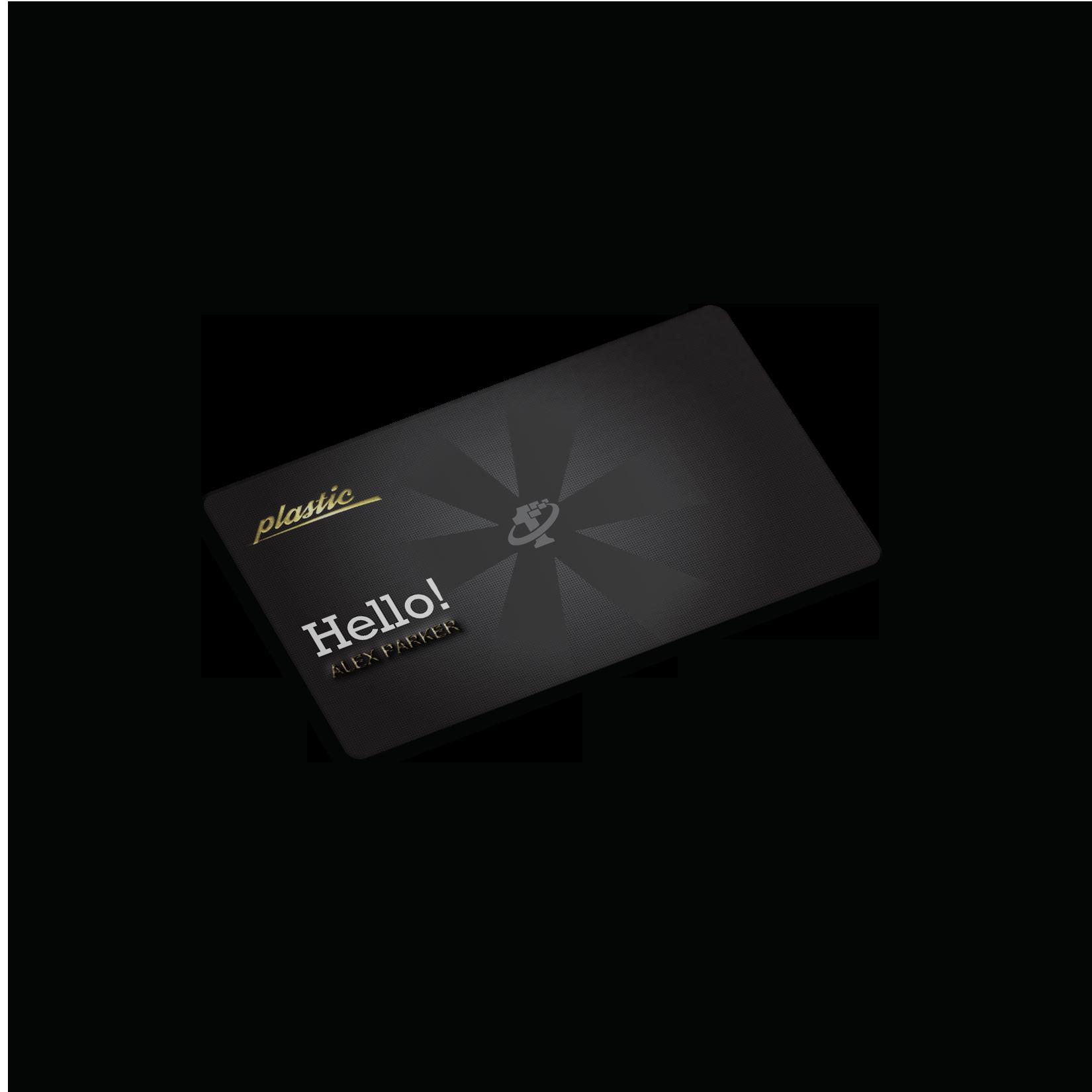 Plastic Business Card - Embossed, Hot Foiled, Matte. Choose ...