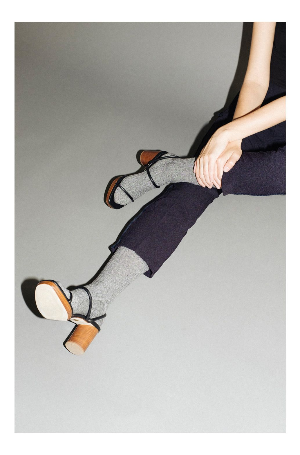 Tread lightly. A touch of subtle luxury in the form of mesh and cashmere socks. Pair with statement sandals from Creatures of Comfort, Maryam Nassir Zadeh and Robert Clergerie to ease the