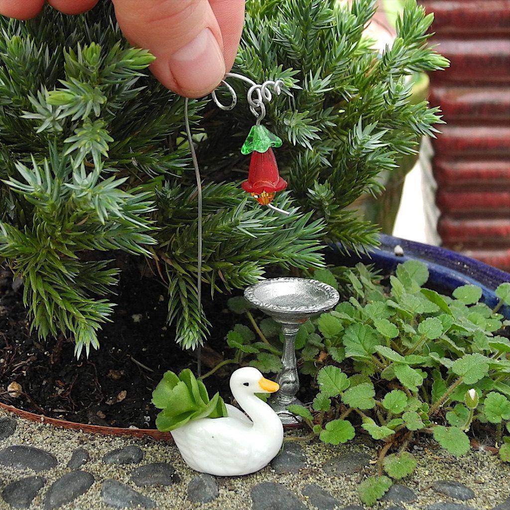 Swish Bird Lovers Only Miniature Garden Set Swan Pot Feeder By Janit Bird Lovers Only Miniature Garden Set Swan Pot Feeder By Janit Mini Garden Stakes Mini Garden Set garden Mini Garden Set