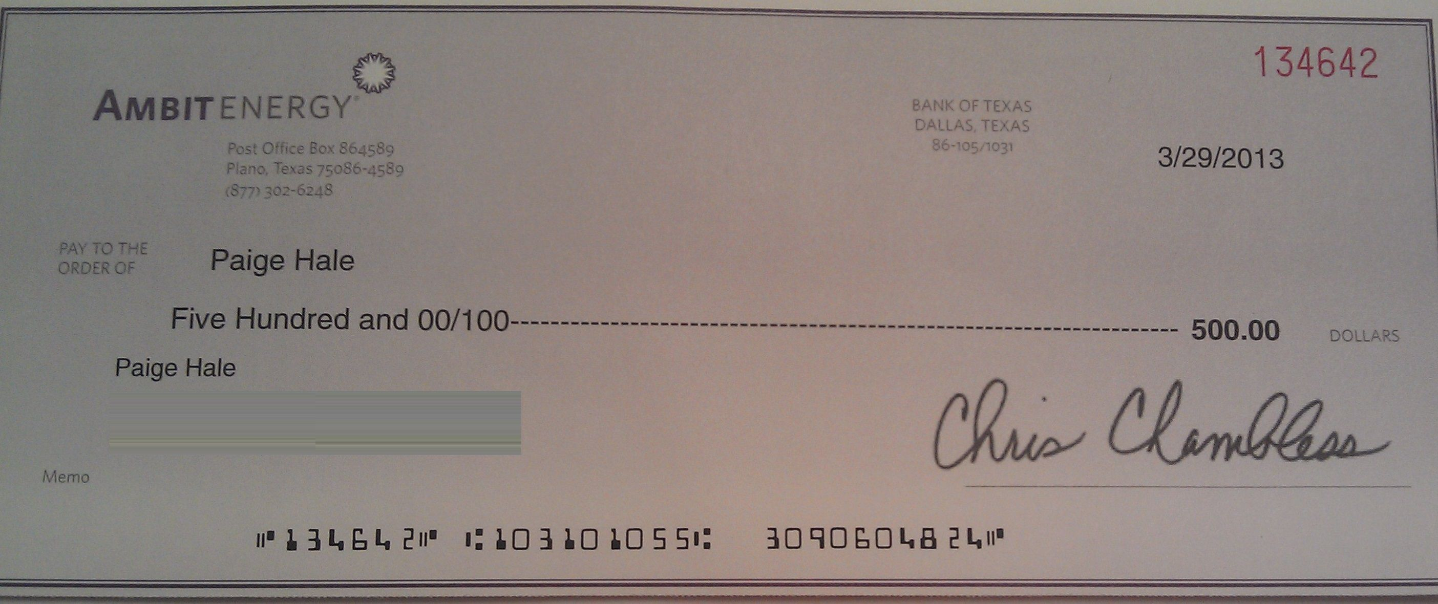 Ambit Energy >> $500! 3rd check from Ambit! | Ambit Energy: Walking Toward Financial…