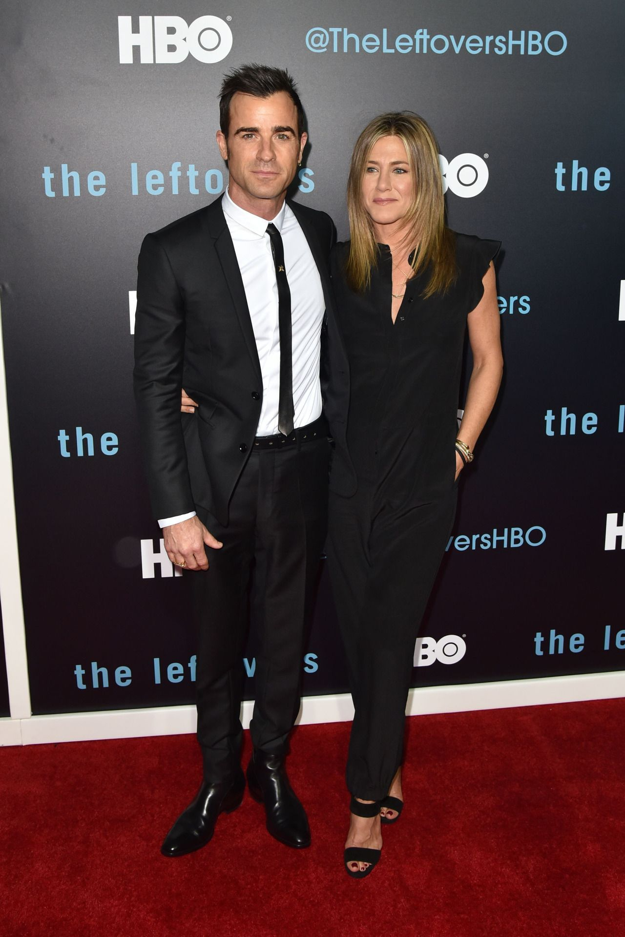 Jennifer Aniston & Justin Theroux Make Their Newlywed Red Carpet Debut  with <3 from JDzigner www.jdzigner.com