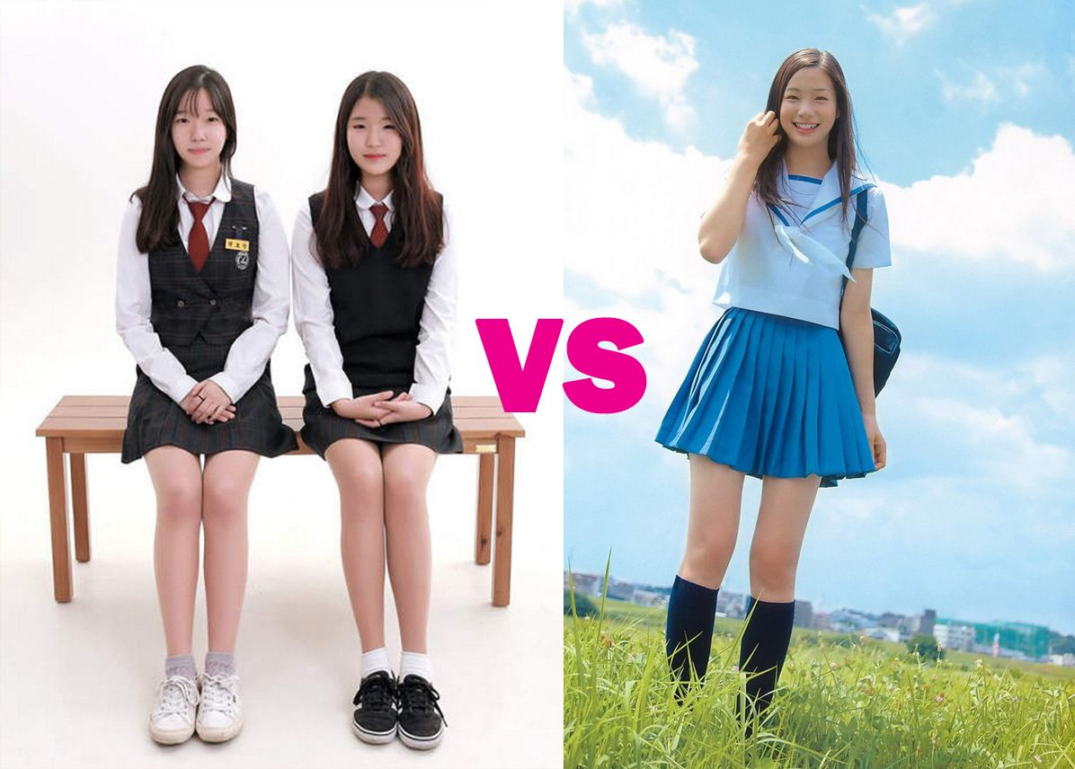 "Korean high school uniforms are more""erotic"" than Japanese ..."