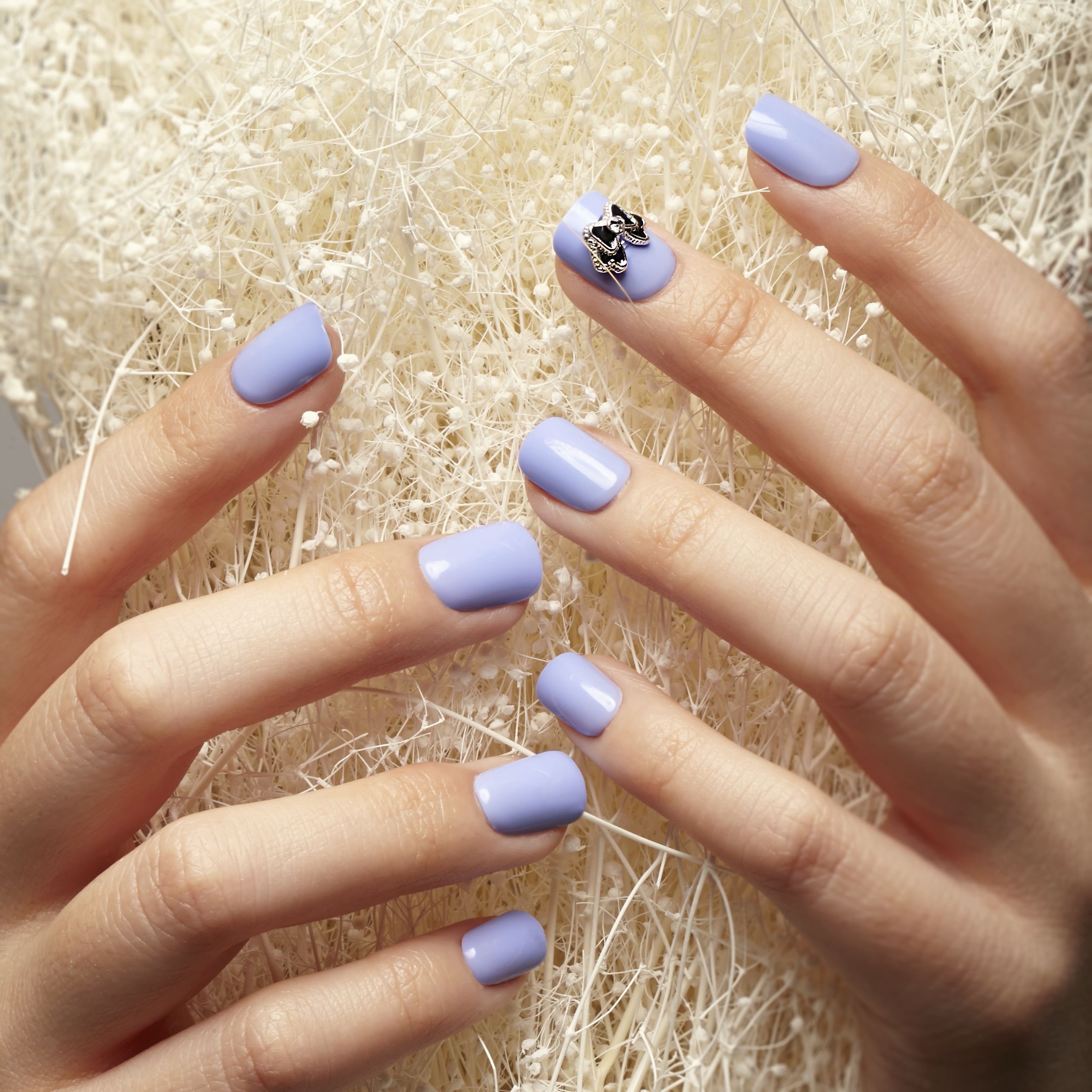 Greet the spring with these pastel blue imPRESS nails! Available at ...