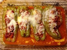 Sausage Stuffed Cubanelle Peppers With Images Stuffed Peppers Hot Pepper Recipes Recipes With Banana Peppers