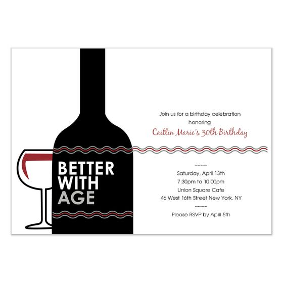 Birthday Wine Invite And Ecard Design