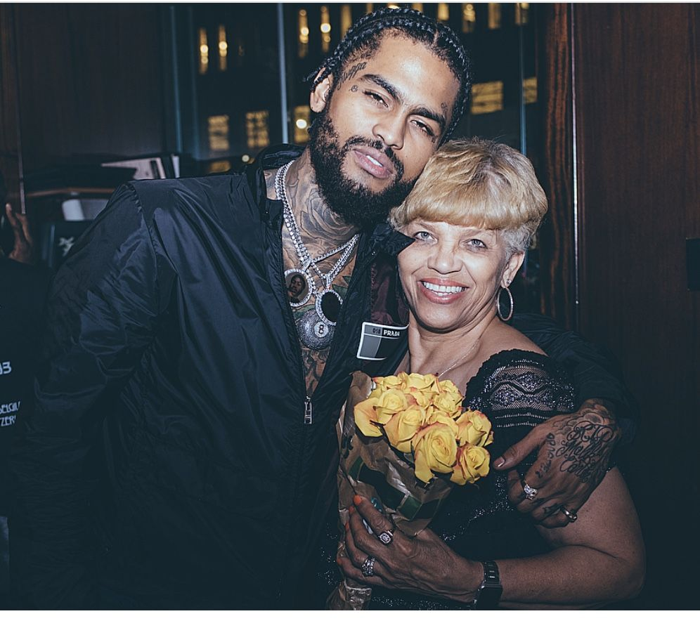 Photo of Dave East  & his  Mother