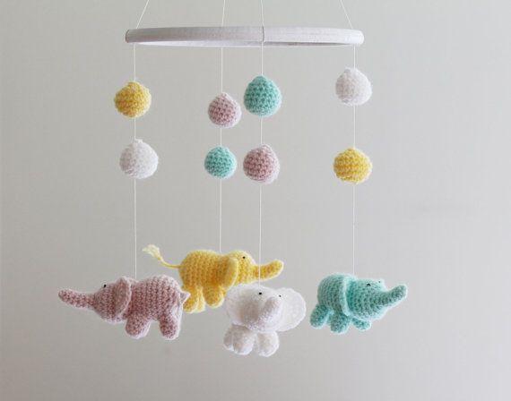 Amigurumi Sheep Baby Mobile : Best girl crib mobiles google search little ones pinterest