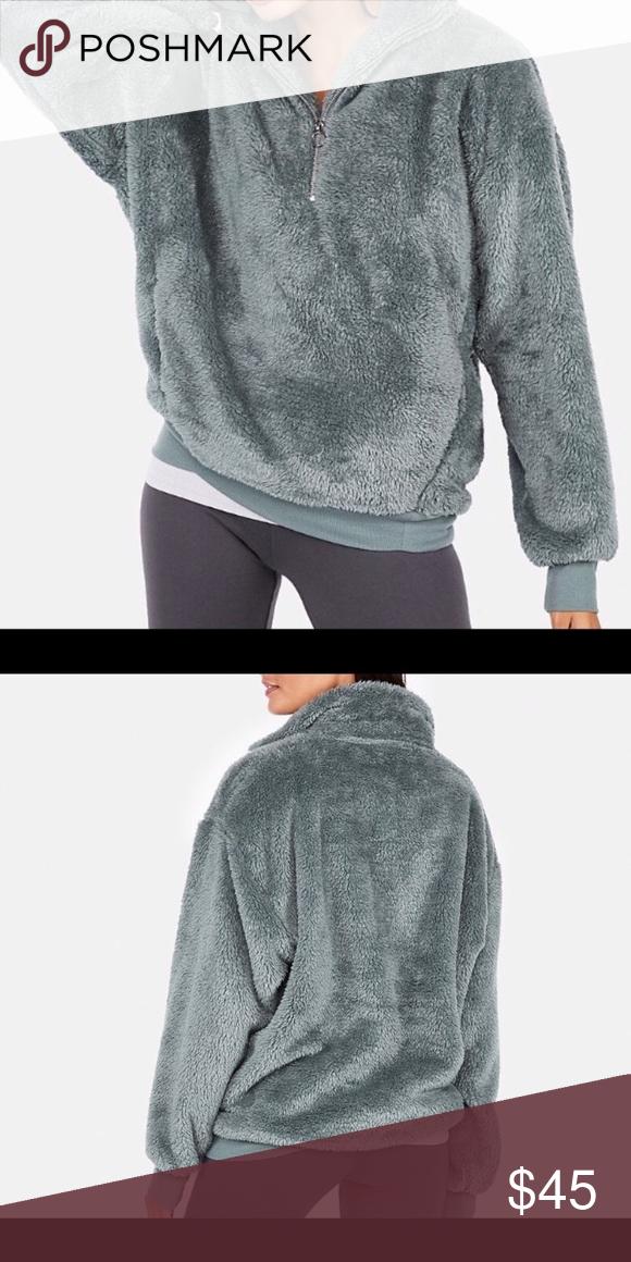 fa351ce1b Express jacket sweater ring zip zipper fleece top Worn once. Very ...
