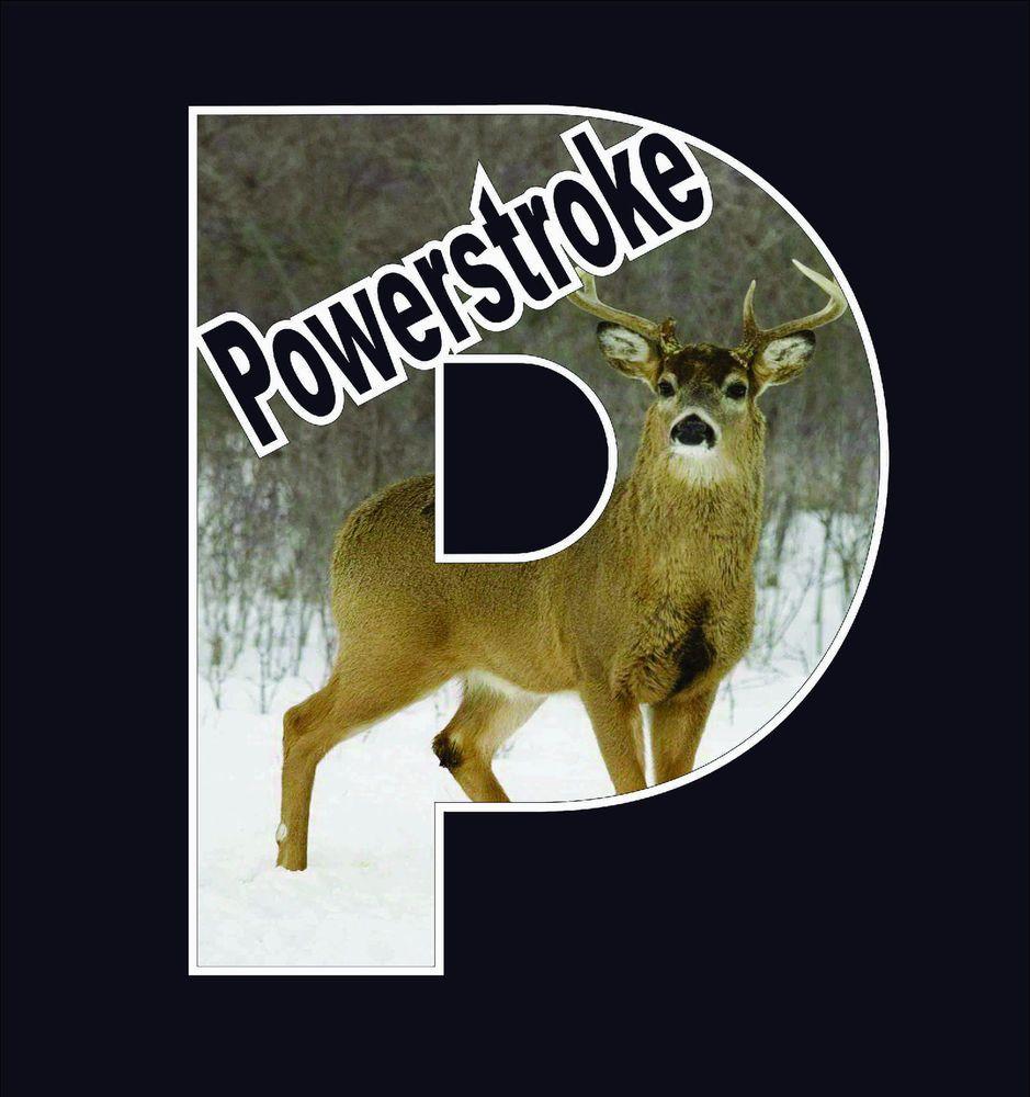 ford powerstroke deer vinyl decal turbo diesel truck