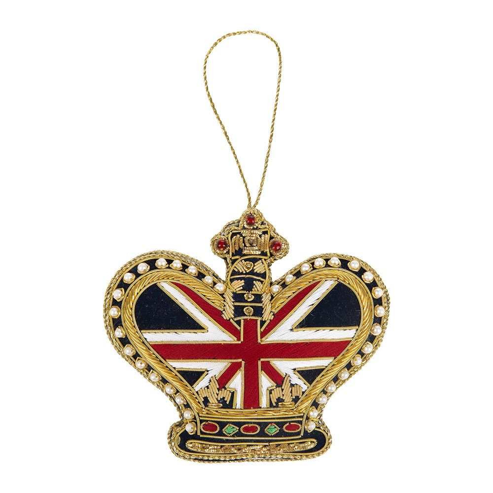 Union Jack Crown Christmas Tree Decoration From Tinker Tailor