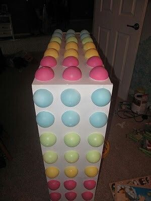 Diy candy dots bookshelf for candy themed room party http for Candy themed bedroom ideas