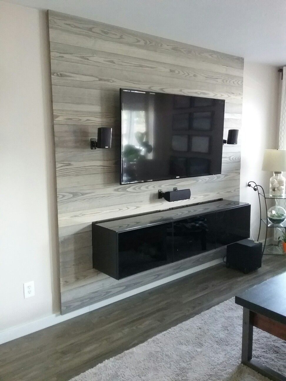 Interieur Maatwerk Devolder Created This Amazing Tv Wall By Using Ash Wood And An Ikea Besta
