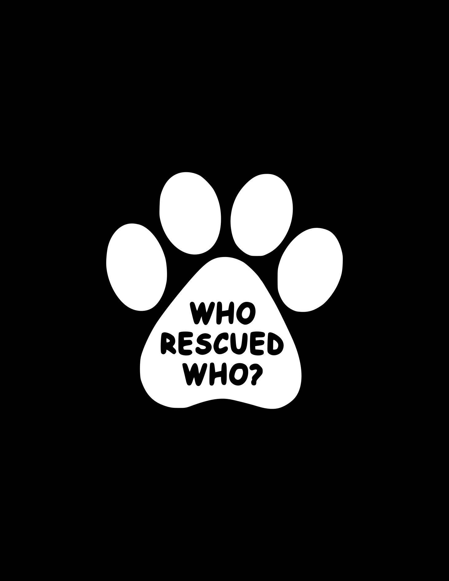 Window Decal Dog Rescuer Heart Paw Print Pet Rescue Animal Shelter Car Sticker