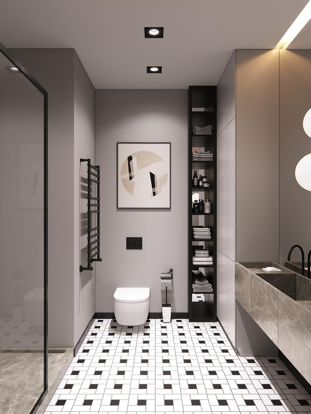 A Sleek Modern Home For A Stylish Young Family Bathroom Interior Bathroom Interior Design Minimalism Interior