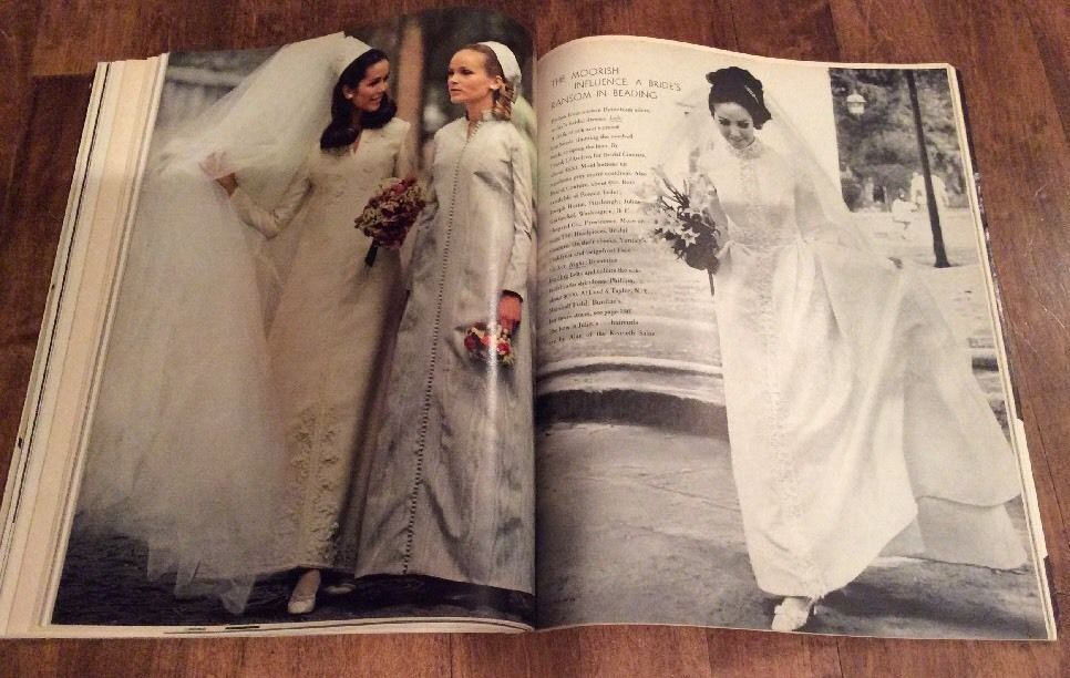 Vintage Modern Bride Magazine Aug/ Sept 1968 Brides Bridal