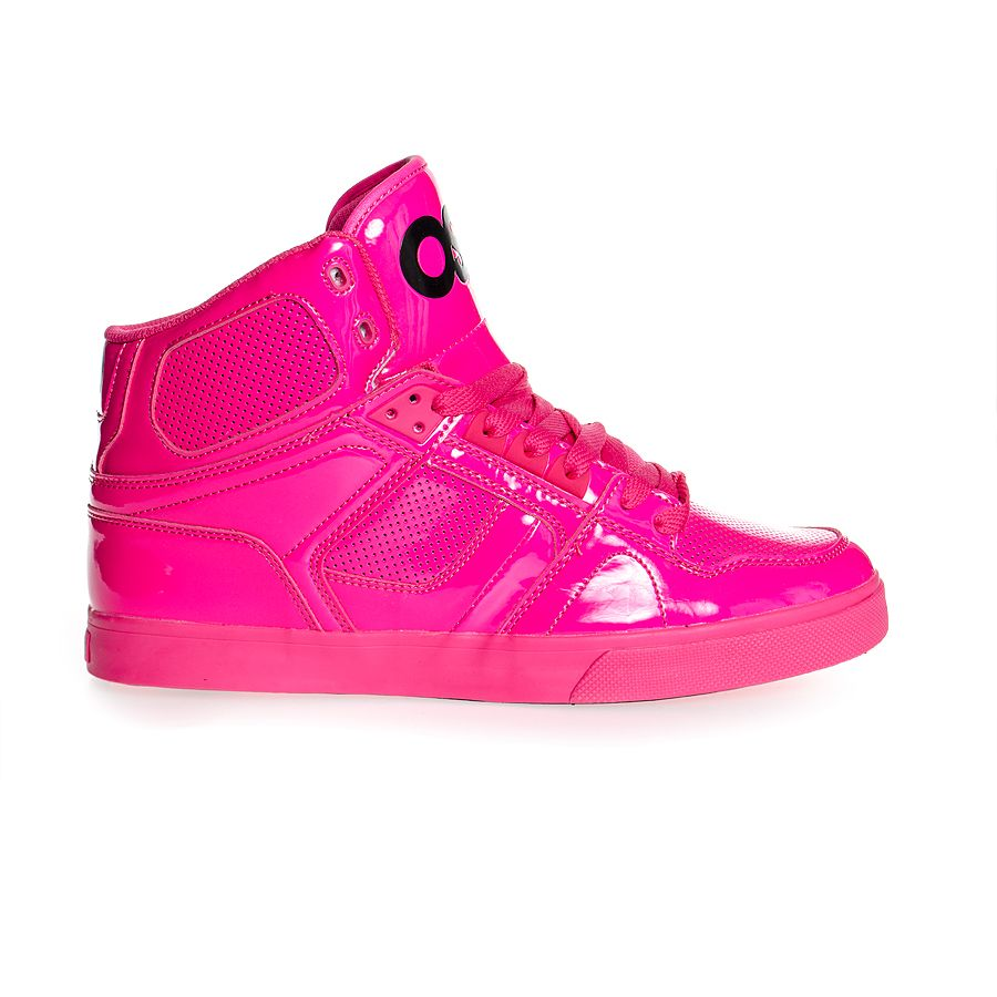 Hot Pink High Top Shoes