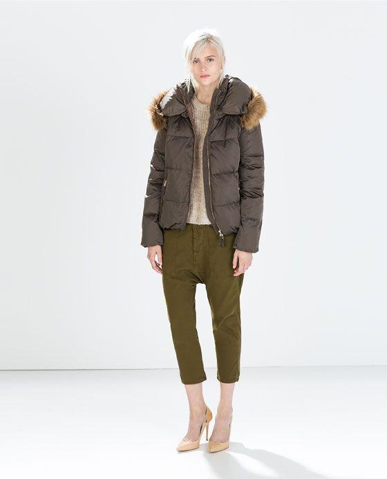 Femme Col Pinterest Imitation Fourrure Doudoune Mode Zara fxEqw8dx