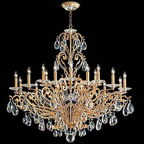 Schonbek filigrae 39w french gold 18 light chandelier aloadofball Image collections