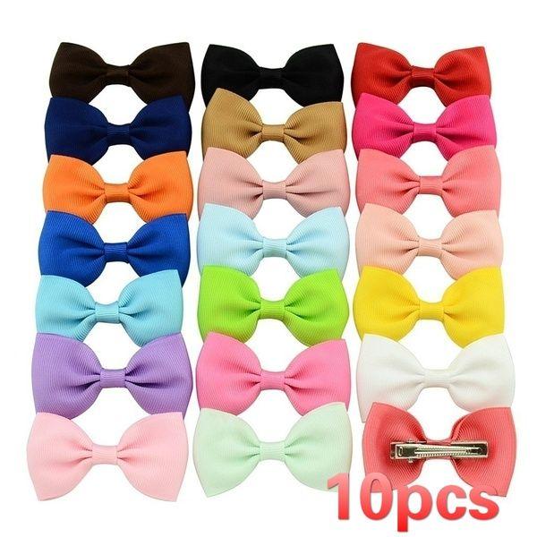 40Pcs Hair Bows Band Boutique Alligator Clip Grosgrain Ribbon For Girl Baby Kids