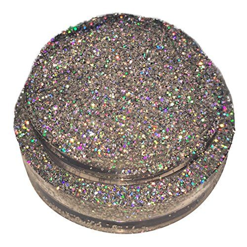 Calavera Cosmetics Silver Glitter For Eyeshadow / Eye Shadow / Eyes / Face / Lips / Nails Makeup Glitter Dust Shimmer - Compare to NYX - Holographic Loose Cosmetic Glitter / Nail Art (Crystal Ball) -- Learn more @ http://www.amazon.com/gp/product/B01HFTUG34/?tag=passion4fashion003e-20&op=300716015555