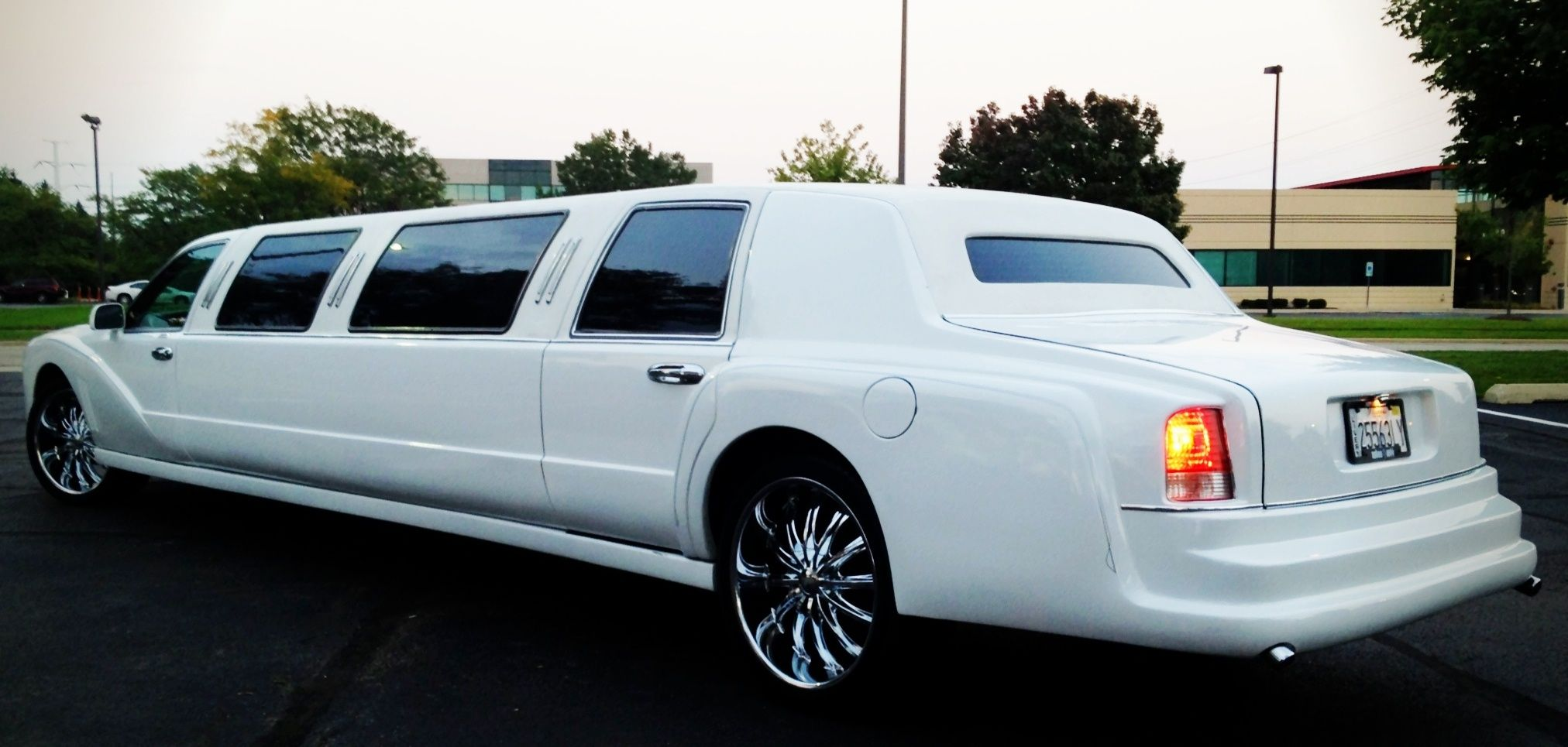 This 1012 passenger White Rolls Royce is ready to be